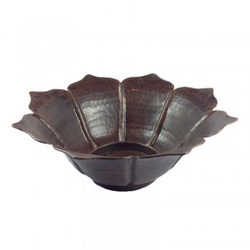 Copper Lotus Bowl