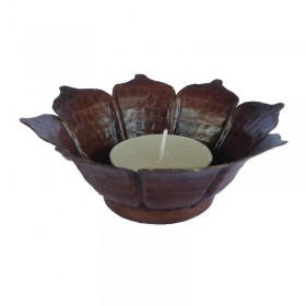 Copper Lotus Tealight