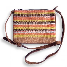 Recycled Plastic Tan Crossbody Bag