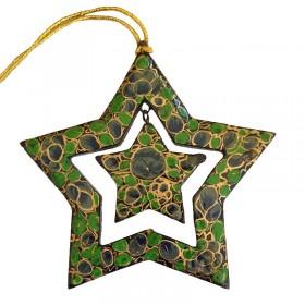 Papier-Mache Star Green
