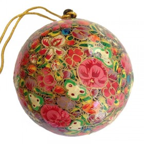 Papier-Mache Ball Red