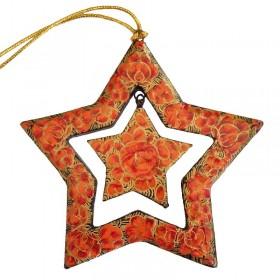 Papier-Mache Star Red