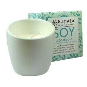 Soy Rose Geranium Ceramic Candle