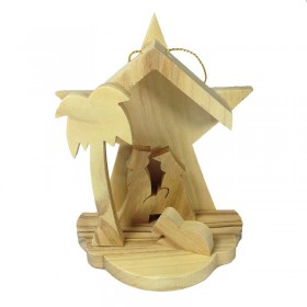 Mini Nativity with Star Background