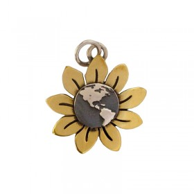 Sunflower Earth Pendant