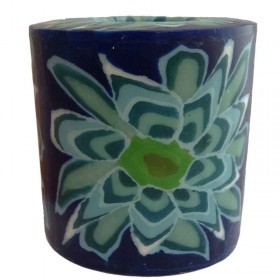 Blue Flower Candle