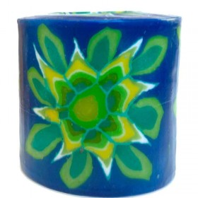 Green Flower Candle