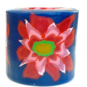 Red Flower Candle
