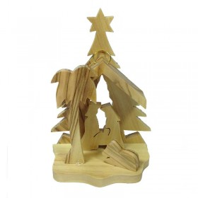 Mini Nativity with Tree Background