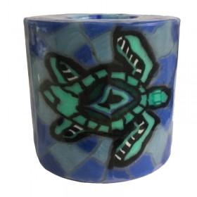 Turtle Mosaic Candle