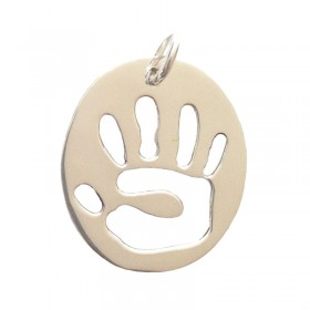 Baby Handprint Pendant