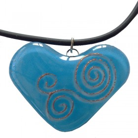 Heart Swirl Glass Pendant
