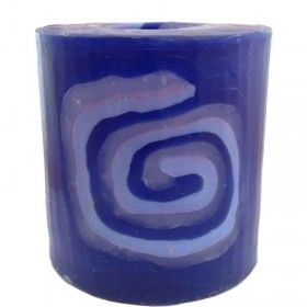 Blue Spiral Candle