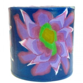 Purple Flower Candle