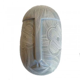 Blue Floral Mask Pillbox