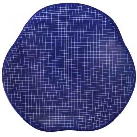 Blue Etched Pattern Coaster Set