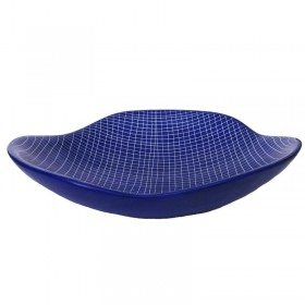 Blue Etched Pattern Dish