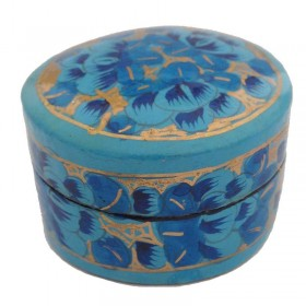 Small Round Papier-Mache Box