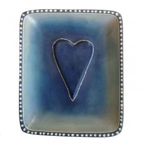 Blue Heart Dish