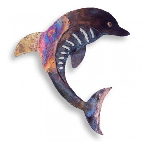 Recycled Metal Dolphin