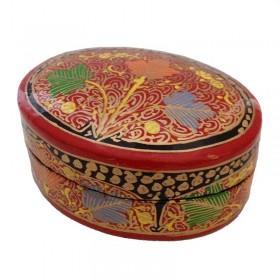 Oval Papier-Mache Box