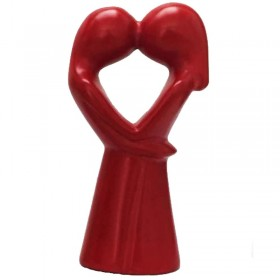 Kissing Lovers Small Red
