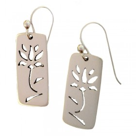 Lotus Cutout Earrings