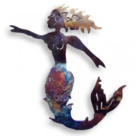 Recycled Metal Mermaid