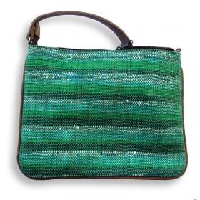 Recycled Plastic Green Crossbody Bag