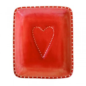 Red Heart Dish