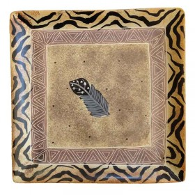 Square Feather Dish