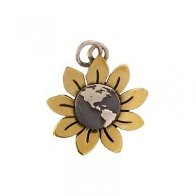 Sunflower Earth Pendant