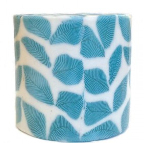 Blue Leaf Candle