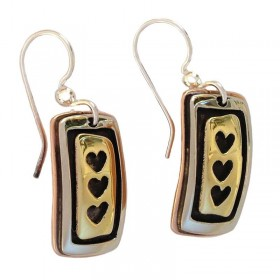 Hearts Inline Earrings