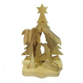 Mini Nativity with Tree Background