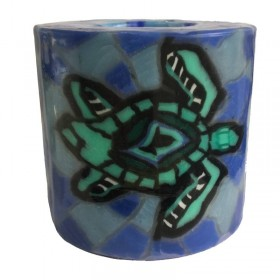 Turtle Mosaic Candle