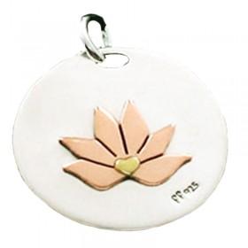 Lotus Disc Pendant