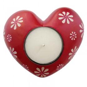 Red Flower Tealight
