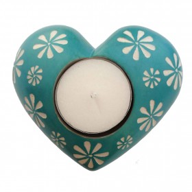 Turquoise Flower Tealight
